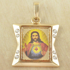 Jewelry - 9K Solid Gold Filled Cubic Zircon God Jesus Cross